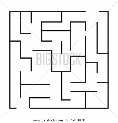 maze puzzle game icon. maze square labyrinth on white background.