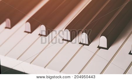 close up photo of piano keys, shallow depth of field