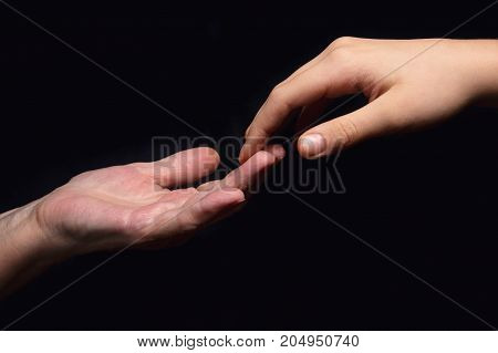 granddaughter and grandmother holding hands, support theme
