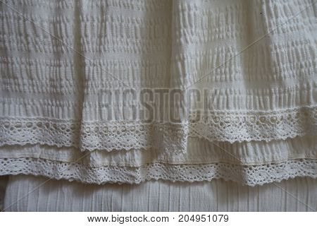 Ivory Fabric With Ruche In Soft Folds