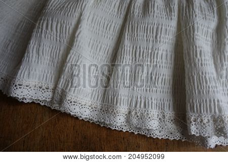 Vintage Frills With Lace On Hem Of Skirt