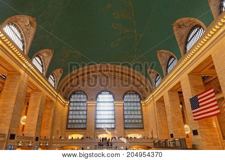 New York City, Usa, September 10, 2017 : Grand Central Terminal (also Referred To Simply As Grand Ce