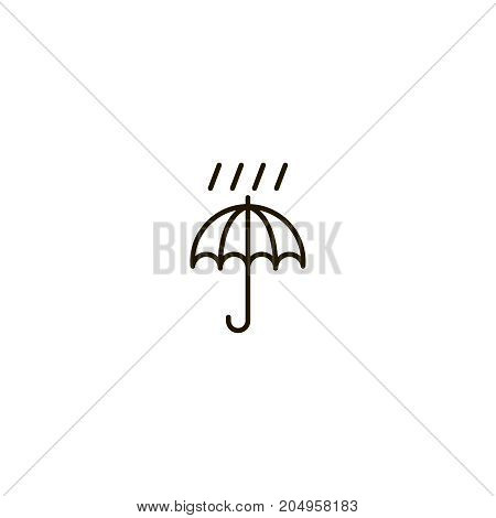 Umbrella drop flat icon. Single high quality symbol of line meteorology vector for web design or mobile app. Color sign of rain for design logo. Single pictogram on white background