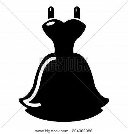 Wedding dress icon . Simple illustration of wedding dress vector icon for web design isolated on white background