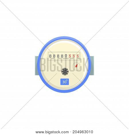 Domestic water meter, household measuring device vector illustration isolated on a white background