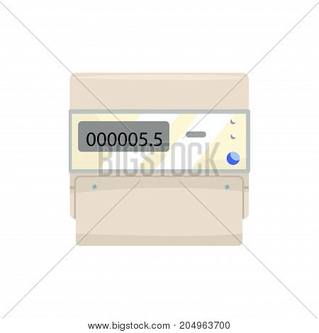 Electronic measuring counter, household measuring device vector illustration isolated on a white background