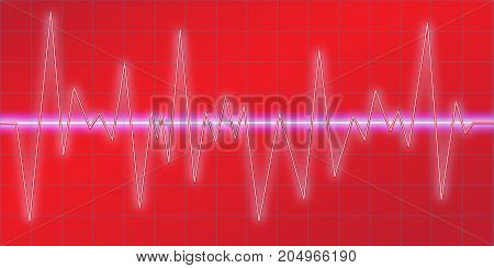 Sound waves oscillating glow, neon light, Spectrum analyzer. Music Equalizer. Amplitude Modulation. Abstract technology background , vector illustration.