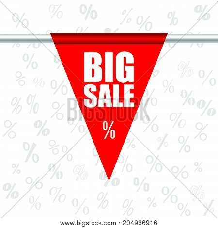 Big Sale Icon In Red Color Illustration