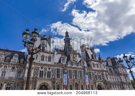 Hotel De Ville (city Hall) In Paris