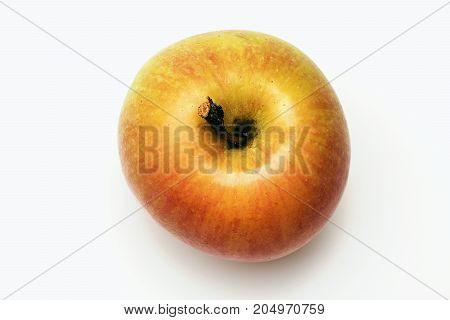 Orange Or Yellow Apple Fruit Isolated On White
