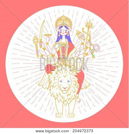 Icon Of Goddess Durga