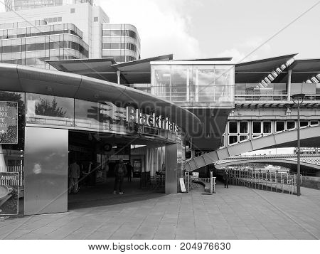 Blackfriars Railway Station In London Black And White