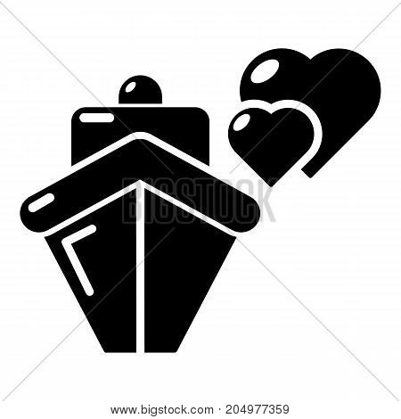 Travel journey honeymoon trip icon . Simple illustration of travel journey honeymoon trip vector icon for web design isolated on white background