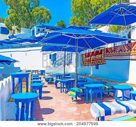 Outdoor Restaurant In Sidi Bou Said