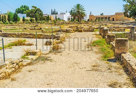 The Open Air Archaeological Museum Of El Djem