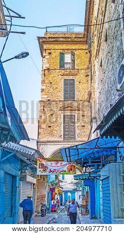 The Closed Bazaar In Tunis Medina