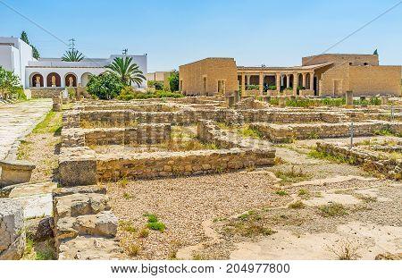 Roman Villas In El Djem