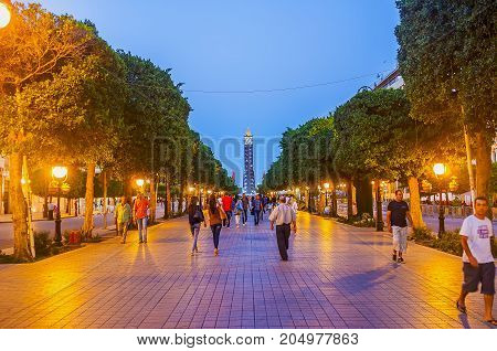 The Evening Walk In Tunis