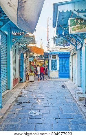 The Streets Of Tunis Bazaar