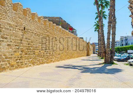 The Wall Of Medina Of Monastir