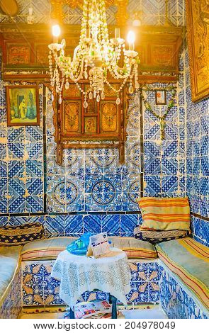 The Guest Hall In Dar Essid Mansion, Sousse