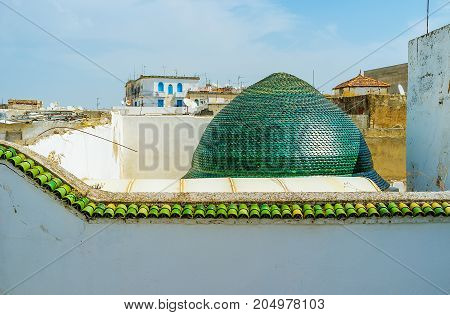The Green Dome In Tunis Medina