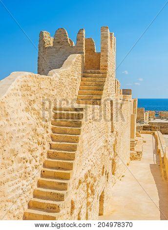 The Stairs To Ribat Tower, Monastir