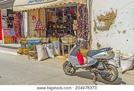 Food Stall In Market Of Monastir