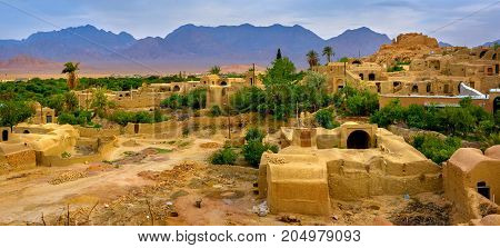 Village In The Oasis, Iran