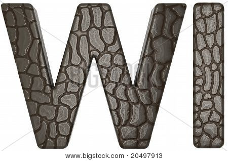 Alligator Skin Font W And I Capital Letters