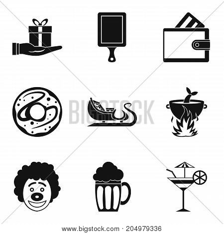 Bounty icons set. Simple set of 9 bounty vector icons for web isolated on white background