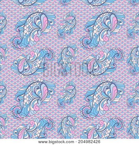 Vector Seamless Paisley Pattern In Soft Colors