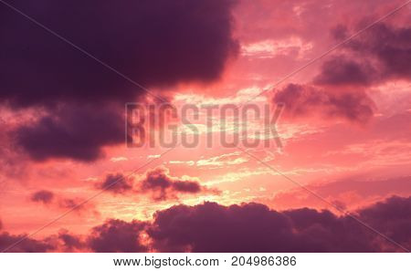 Colorful And Light Clouds In The Sky