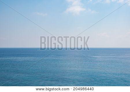 View of beautiful sky with sea skyline