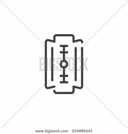 Blade line icon, outline vector sign, linear style pictogram isolated on white. Symbol, logo illustration. Editable stroke