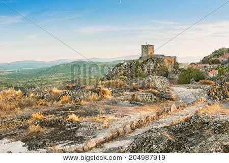Sortelha Castle on top of the hill Portugal