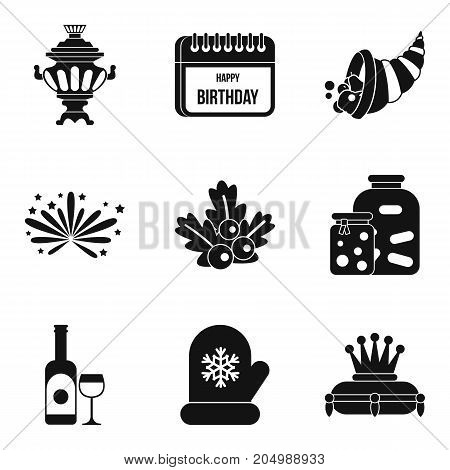 Paradise rest icons set. Simple set of 9 paradise rest vector icons for web isolated on white background