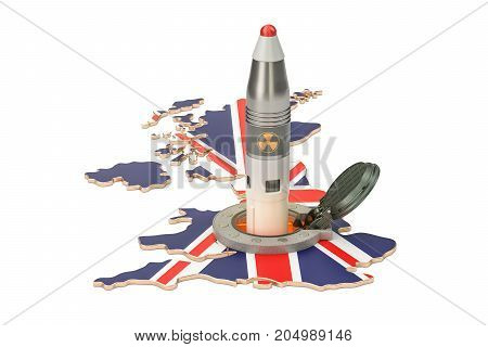 British missile launches from its underground silo launch facility 3D rendering