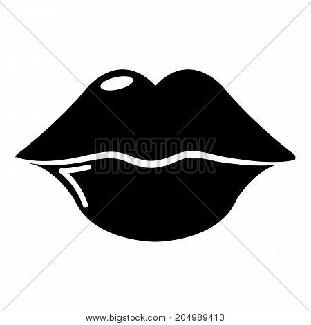 Lips icon . Simple illustration of lips vector icon for web design isolated on white background