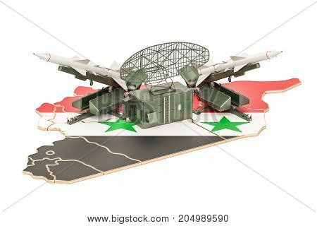 Syrian missile defence system concept 3D rendering