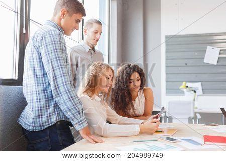 Business etiquette, entrepreneurs partnership, making successful deal concept