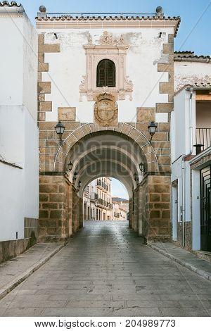 Arch of concepcion in Alcantara, Caceres, Extremadura, Spain