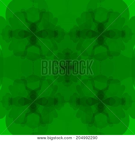Trippy psychedelic seamless pattern vector illustration green