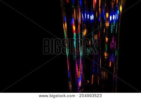 Abstract: Bright and Colorful Christmas Light Reflections