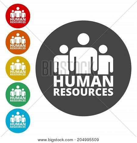 Human resources sign icon, simple vector icon