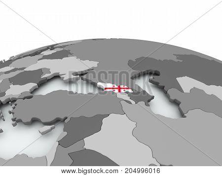 Flag Of Georgia On Globe