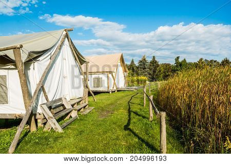 Glamour Camping tents in New York State.