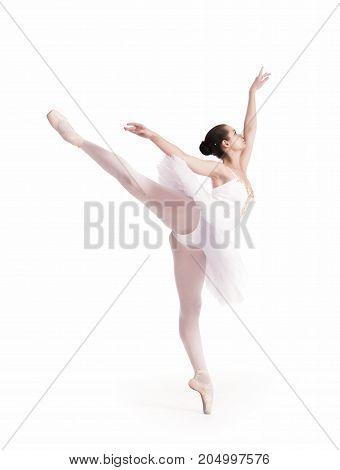 Ballerina In White Tutu.