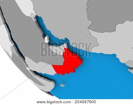 Oman On Political Globe