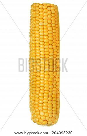 Ripe corn isolated on a white background
